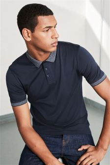 Textured Collar Polo