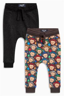 Monkey Joggers Two Pack (3mths-6yrs)