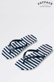 Fat Face Navy Stripe Flip Flop