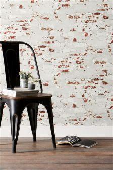 Paste The Wall Distressed Bricks Wallpaper