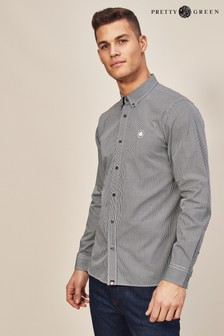 Pretty Green Hendry Long Sleeve Gingham Shirt