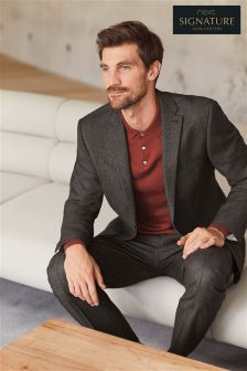 Signature Textured Suit: Jacket
