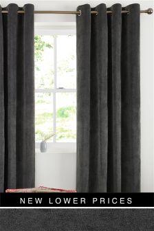 Мягкие велюровые шторы с люверсами