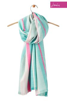 Joules Pink Stripe Deck Woven Scarf