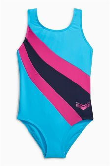 Colourblock Sport Swimsuit (3-16yrs)