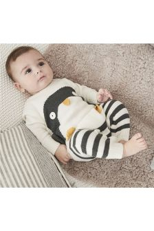 Penguin Knitted Romper Suit (0mths-2yrs)