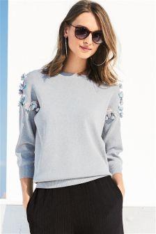 Sequin Shoulder Sweater