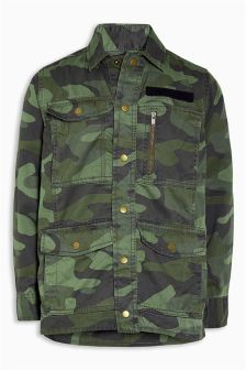 Long Sleeve Camo Shacket (3-16yrs)