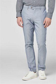 Костюм из хлопкового шамбре: брюки