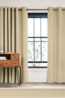 Velour Cord Eyelet Lined Curtains Studio