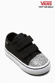 Buty z brokatowymi noskami Vans Velcro