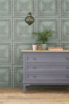Paste The Wall Tin Tiles Wallpaper