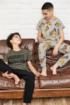 Pizza Pyjamas Two Pack (3-16yrs)