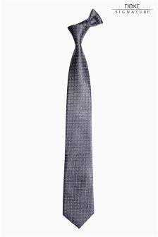 Signature Pattern Silk Tie