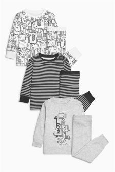 Animal Snuggle Pyjamas Three Pack (9mths-8yrs)