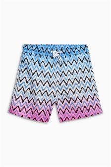 Zig Zag Print Swim Shorts (3mths-16yrs)