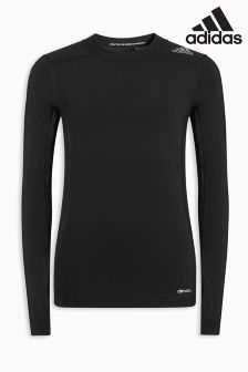 adidas Black Long Sleeve Techfit Tee