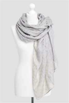 Textured Foil Print Scarf