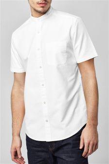 Koszulka grandad Oxford z krótkim rękawem