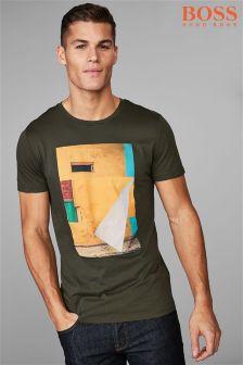 Koszulka Boss Casual Turbulent w kolorze khaki