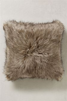 Tipped Faux Fur Cushion