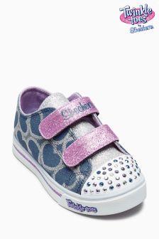 Dżinsowe buty z odkrytymi palcami Skechers® Heart Sparkle Glitz