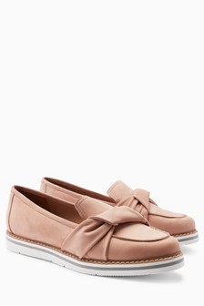 Suede EVA Knot Loafers