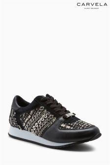 Carvela Black Lit Tweed Sneaker