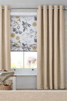 Bouclé Blend Eyelet Curtains