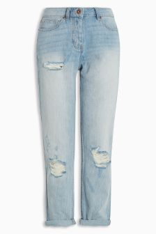 Vintage Wash Cropped Jeans