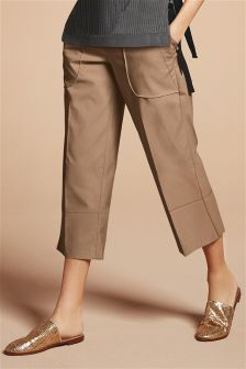 Technical Pocket Detail Crop Trousers