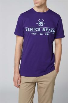 T-shirt met Venice Beach-print