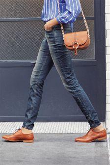 Ankle Zip Skinny Jeans