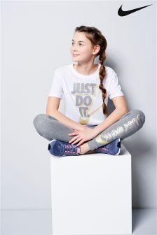 Nike White JDI. Tee