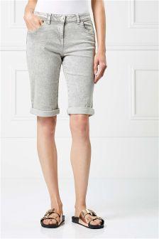 Denim Knee Shorts