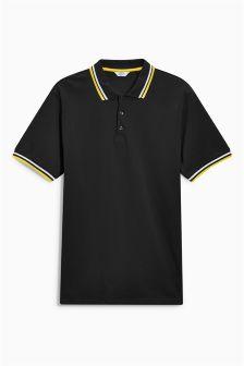 Рубашка поло с коротким рукавом и отделкой