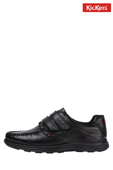 Kickers® Reasan Black Strap Shoe