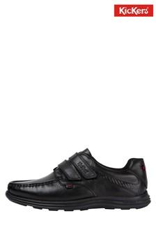 Kickers® Reasan Black Strap Shoe