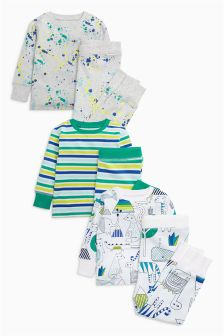 Splat Long Sleeve Pyjamas Three Pack (9mths-8yrs)