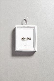 Stone Set Twist Ring