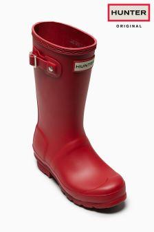 Hunter Original Kids Red Matte Wellington Boot