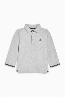 Long Sleeve Polo (3mths-6yrs)