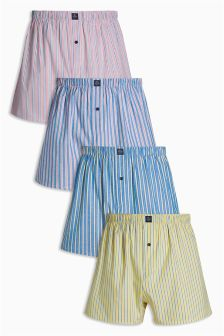 Candy Stripe Woven Boxers Four Pack