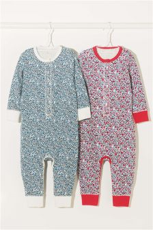 Floral Sleepsuits Two Pack (9mths-8yrs)