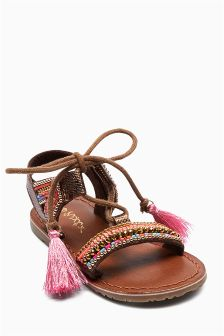 Embellished Leather Sandals (Younger Girls)