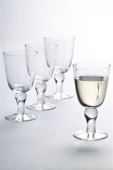 Set Of 4 Country Luxe Wine Glasses