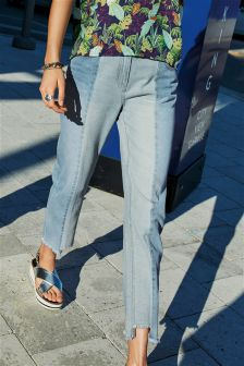 Panelled Relaxed Jeans