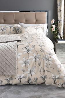 Комплект постельного белья из хлопкового сатина с магнолиями