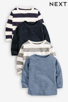 Long Sleeve T-Shirts Four Pack (3mths-6yrs)