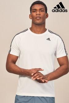 adidas 3 Stripe D2M T-Shirt